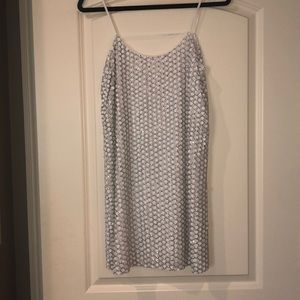 PARKER WHITE SEQUIN DRESS | WORN ONCE